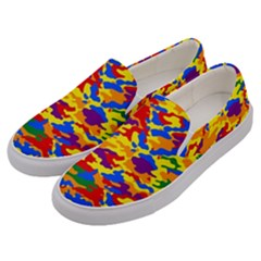 Homouflage Gay Stealth Camouflage Men s Canvas Slip Ons by PodArtist