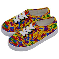 Homouflage Gay Stealth Camouflage Kids  Classic Low Top Sneakers by PodArtist