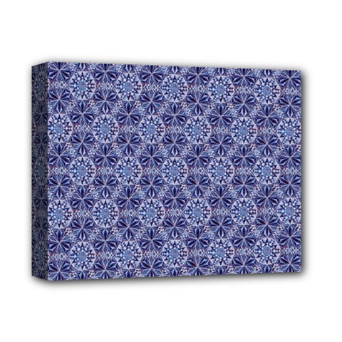 Crystals Pattern Blue Deluxe Canvas 14  X 11  by Cveti