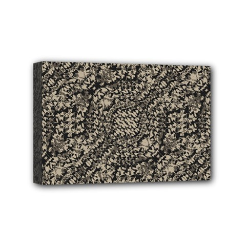 Animal Print Camo Pattern Mini Canvas 6  X 4  by dflcprints
