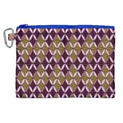 Rhomboids Pattern  Canvas Cosmetic Bag (xl) by Cveti