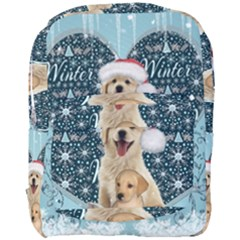 It s Winter And Christmas Time, Cute Kitten And Dogs Full Print Backpack by FantasyWorld7