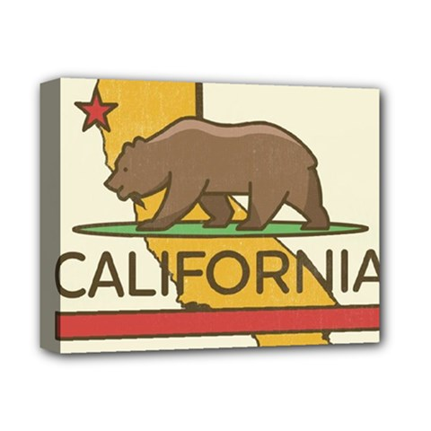 California Bear Deluxe Canvas 14  X 11  by allthingseveryday