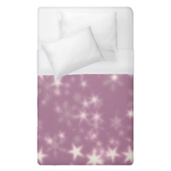 Blurry Stars Lilac Duvet Cover (single Size) by MoreColorsinLife