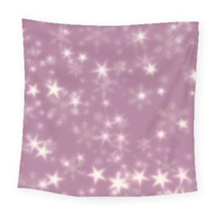Blurry Stars Lilac Square Tapestry (large) by MoreColorsinLife