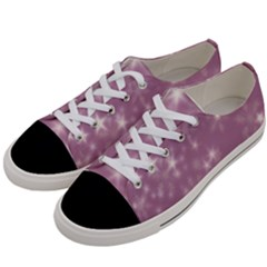 Blurry Stars Lilac Women s Low Top Canvas Sneakers by MoreColorsinLife