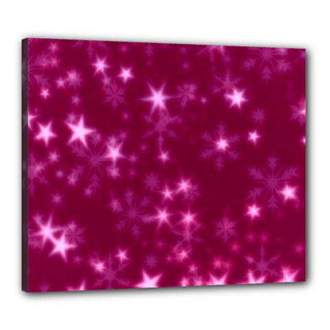 Blurry Stars Pink Canvas 24  X 20  by MoreColorsinLife