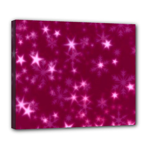 Blurry Stars Pink Deluxe Canvas 24  X 20   by MoreColorsinLife