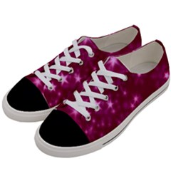 Blurry Stars Pink Women s Low Top Canvas Sneakers by MoreColorsinLife