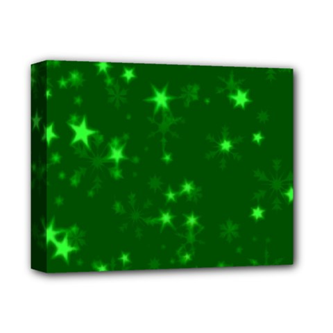 Blurry Stars Green Deluxe Canvas 14  X 11  by MoreColorsinLife