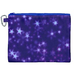 Blurry Stars Blue Canvas Cosmetic Bag (xxl) by MoreColorsinLife