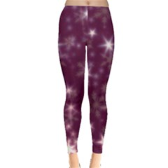 Blurry Stars Plum Leggings  by MoreColorsinLife