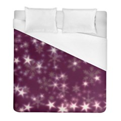 Blurry Stars Plum Duvet Cover (full/ Double Size) by MoreColorsinLife