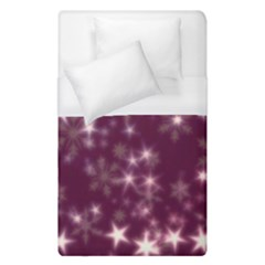 Blurry Stars Plum Duvet Cover (single Size) by MoreColorsinLife