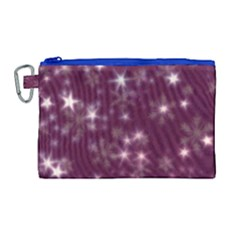 Blurry Stars Plum Canvas Cosmetic Bag (large)