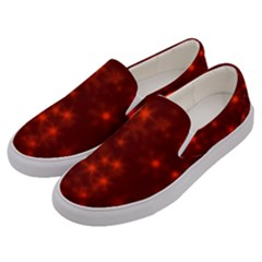 Blurry Stars Red Men s Canvas Slip Ons by MoreColorsinLife