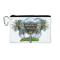Beverly Hills Canvas Cosmetic Bag (medium) by allthingseveryday