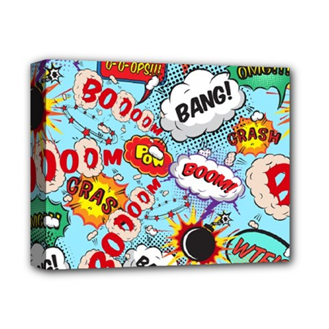 Comic Pattern Deluxe Canvas 14  X 11  by allthingseveryday