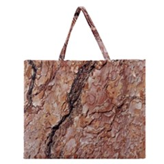 Tree Bark C Zipper Large Tote Bag by MoreColorsinLife