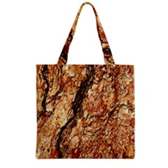 Tree Bark D Grocery Tote Bag by MoreColorsinLife