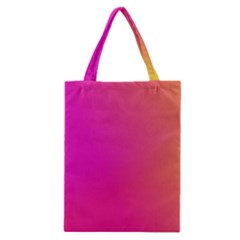Pink Orange Yellow Ombre  Classic Tote Bag by SimplyColor
