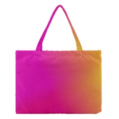 Pink Orange Yellow Ombre  Medium Tote Bag by SimplyColor
