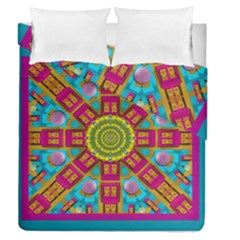Sunny And Bohemian Sun Shines In Colors Duvet Cover Double Side (queen Size) by pepitasart