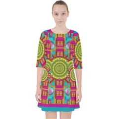 Sunny And Bohemian Sun Shines In Colors Pocket Dress