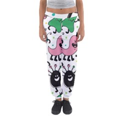 Cute And Fun Monsters Pattern Women s Jogger Sweatpants by allthingseveryday