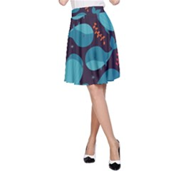 Blue Whale Pattern A Line Skirt by allthingseveryday