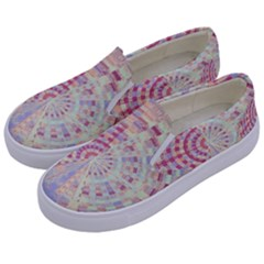 Gateway To Thelight Pattern  Kids  Canvas Slip Ons by Cveti