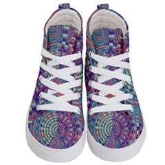 Gateway To Thelight Pattern 4 Kid s Hi Top Skate Sneakers