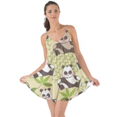 Fun Panda Pattern Love The Sun Cover Up