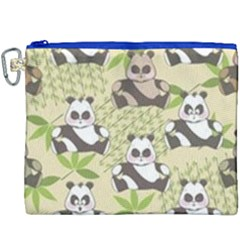 Fun Panda Pattern Canvas Cosmetic Bag (xxxl) by allthingseveryday