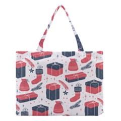 Christmas Gift Sketch Medium Tote Bag by patternstudio