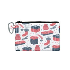 Christmas Gift Sketch Canvas Cosmetic Bag (small) by patternstudio