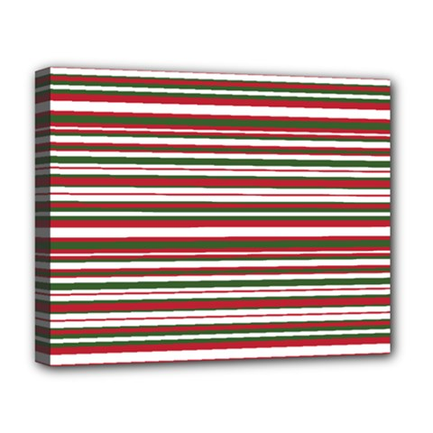Christmas Stripes Pattern Deluxe Canvas 20  X 16   by patternstudio