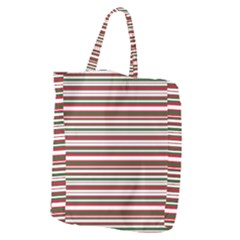 Christmas Stripes Pattern Giant Grocery Zipper Tote by patternstudio