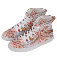 Heart   Reflection   Energy Women s Hi Top Skate Sneakers by Cveti