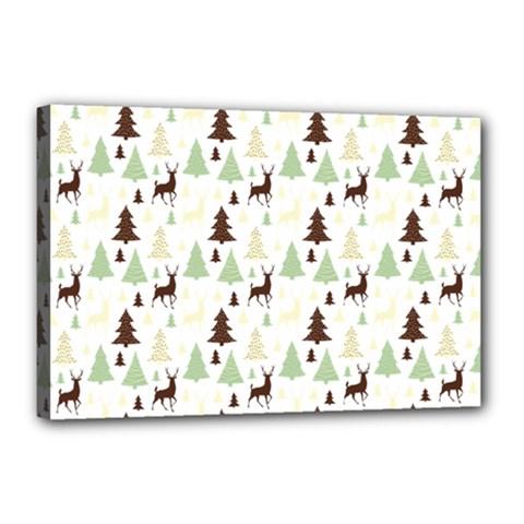 Reindeer Tree Forest Canvas 18  X 12  by patternstudio