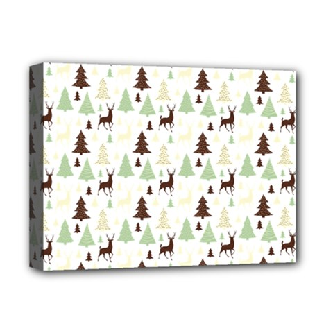 Reindeer Tree Forest Deluxe Canvas 16  X 12   by patternstudio