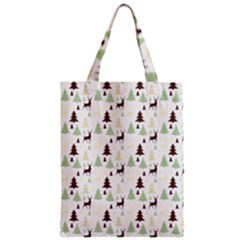 Reindeer Tree Forest Zipper Classic Tote Bag by patternstudio
