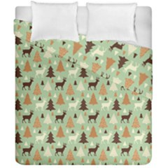 Reindeer Tree Forest Art Duvet Cover Double Side (california King Size) by patternstudio