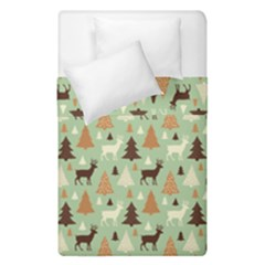 Reindeer Tree Forest Art Duvet Cover Double Side (single Size) by patternstudio