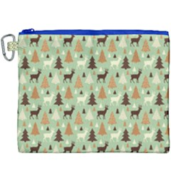 Reindeer Tree Forest Art Canvas Cosmetic Bag (xxxl) by patternstudio