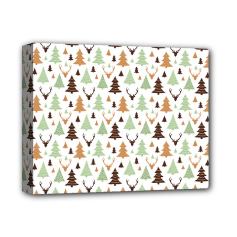 Reindeer Christmas Tree Jungle Art Deluxe Canvas 14  X 11  by patternstudio
