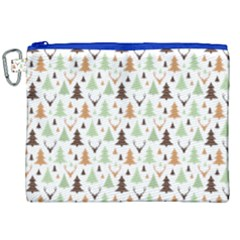 Reindeer Christmas Tree Jungle Art Canvas Cosmetic Bag (xxl)