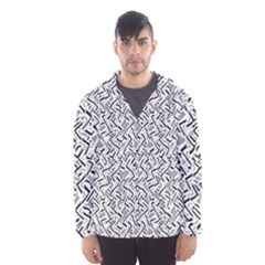 Wavy Intricate Seamless Pattern Design Hooded Wind Breaker (men) by dflcprints