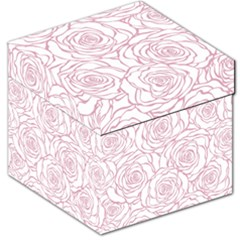 Pink Peonies Storage Stool 12   by 8fugoso