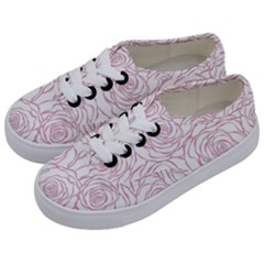 Pink Peonies Kids  Classic Low Top Sneakers by 8fugoso